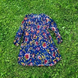 Old Navy Floral Long Sleeve Tunic Blouse